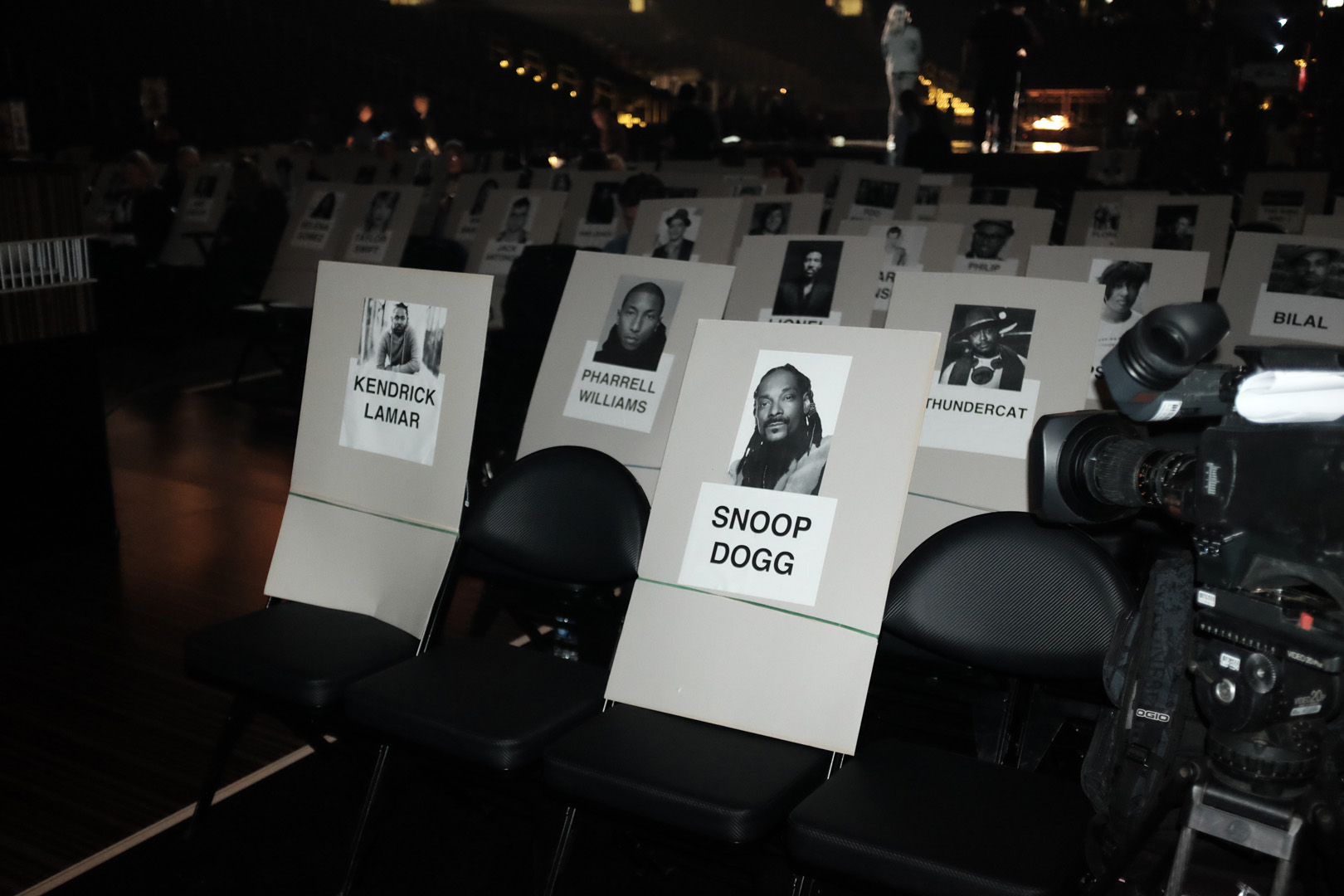 Kendrick Lamar and Snoop Dogg won't be seated far from Pharrell Williams.