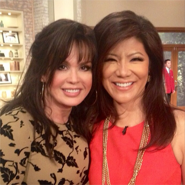 Marie Osmond and Julie Chen