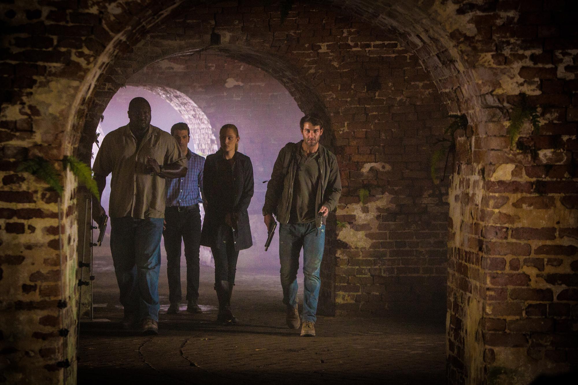 Nonso Anozie as Abraham Kenyatta, Simon Kassianides as Jean-Michel Lion, Nora Arnezeder as Chloe Tousignant, and James Wolk as Jackson Oz.