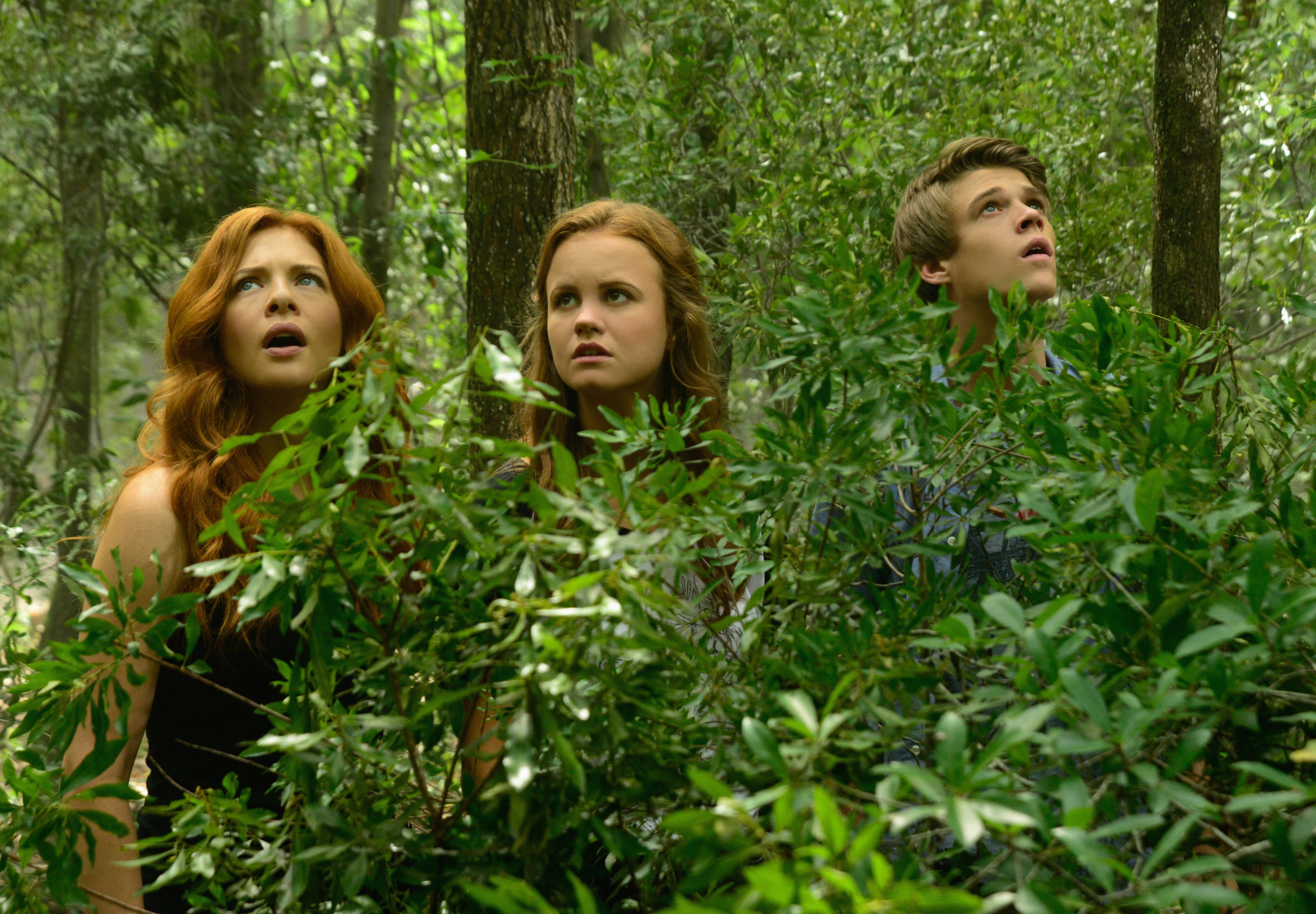 Rachelle Lefevre as Julia Shumway, Mackenzie Lintz as Norrie, and Colin Ford as Joe McAlister.