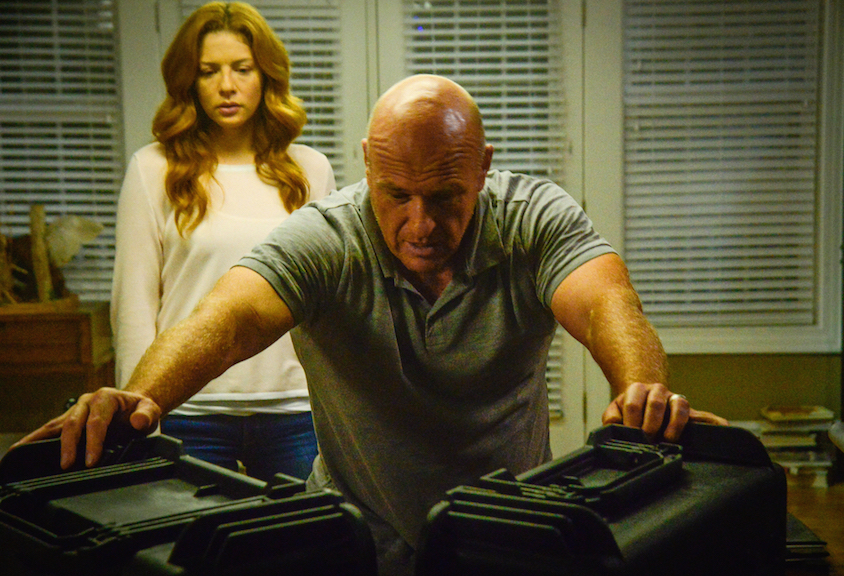Rachelle Lefevre as Julia Shumway and Dean Norris as James