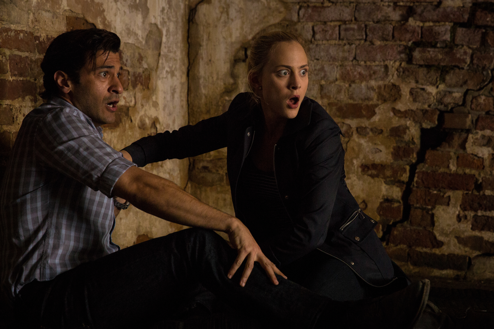 Simon Kassianides as Jean-Michel Lion and Nora Arnezeder as Chloe Tousignant.