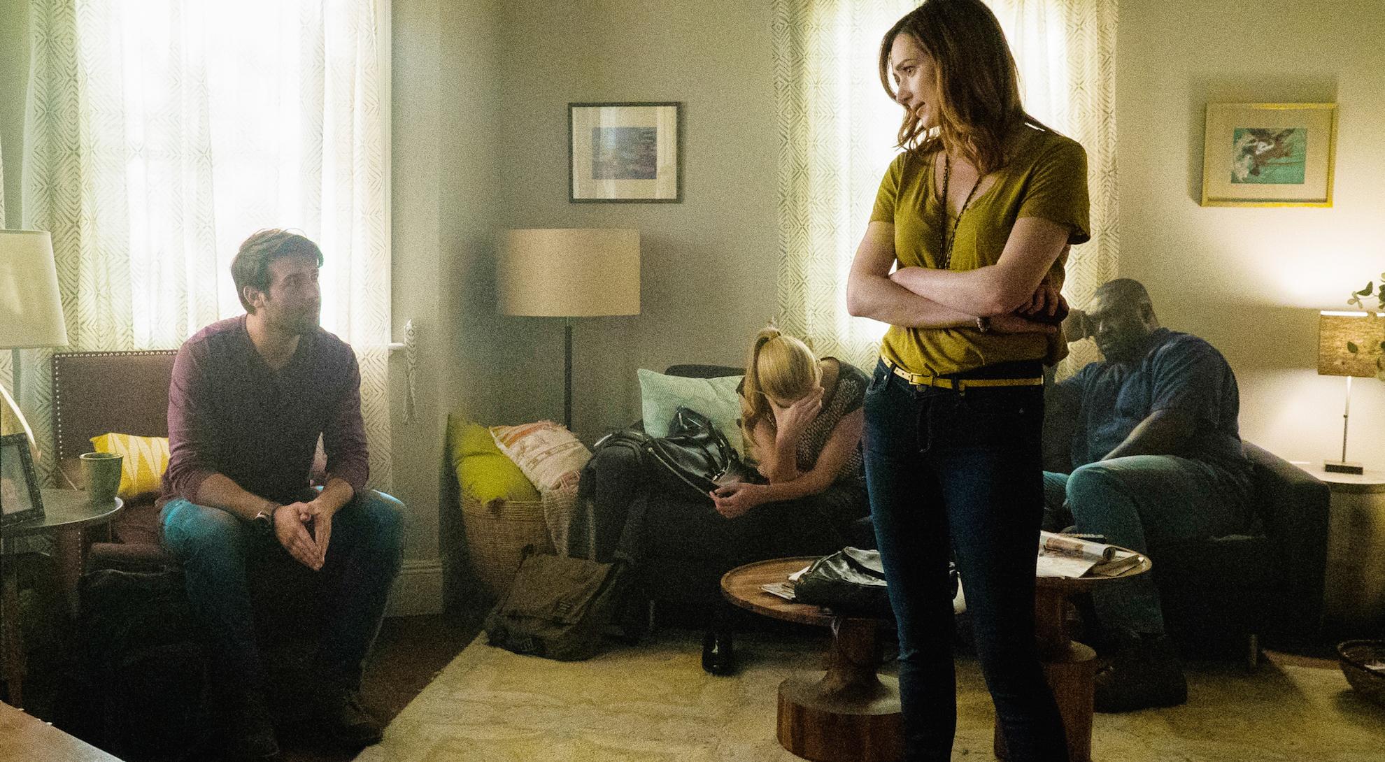 James Wolk as Jackson Oz, Nora Arnezeder as Chloe Tousignant, Kristen Connolly as Jamie Campbell, and Nonso Anozie as Abraham Kenyatta.