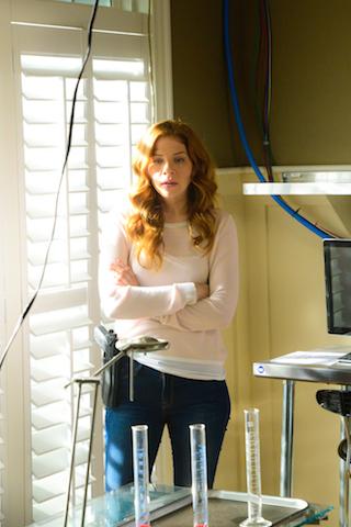 Pictured Rachelle Lefevre as Julia Shumway.