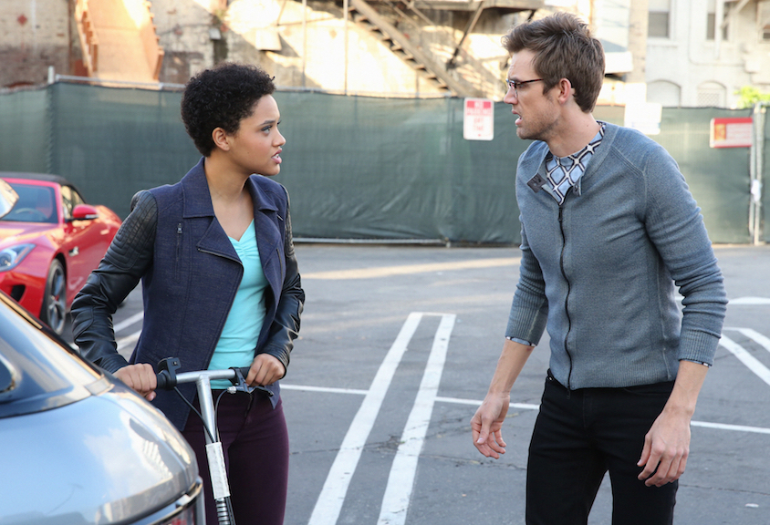 Kiersey Clemons as Lucy and Tyler Hilton as Charlie Arthurs.