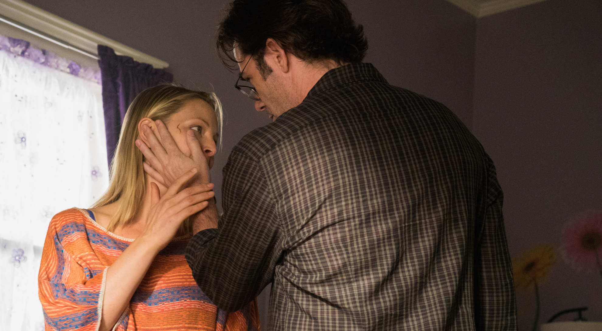 Anastasia Griffith as Audra Lewis and Billy Burke as Mitch Morgan.
