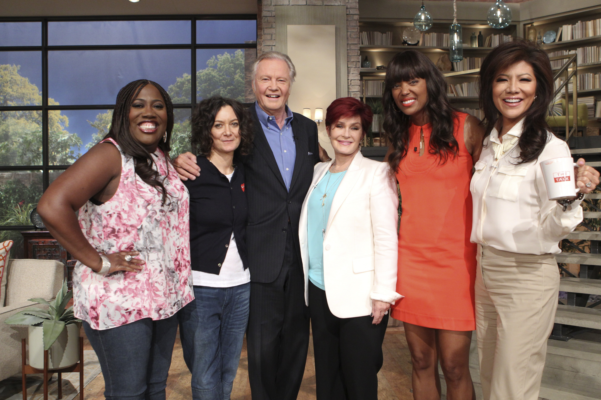 Jon Voight with the ladies of The Talk