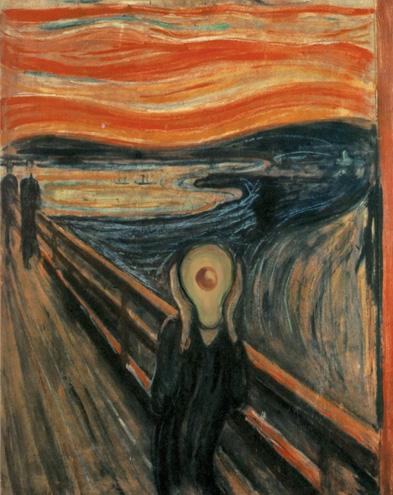 The Scream with Avocado, Edvard Munch, 1893