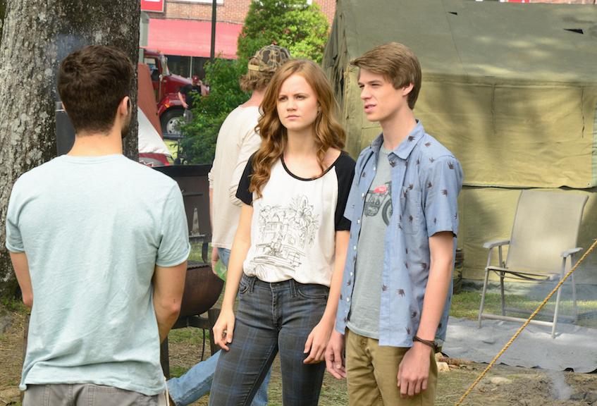 Mackenzie Lintz as Norrie Calvert-Hill and Colin Ford as Joe McAlister.