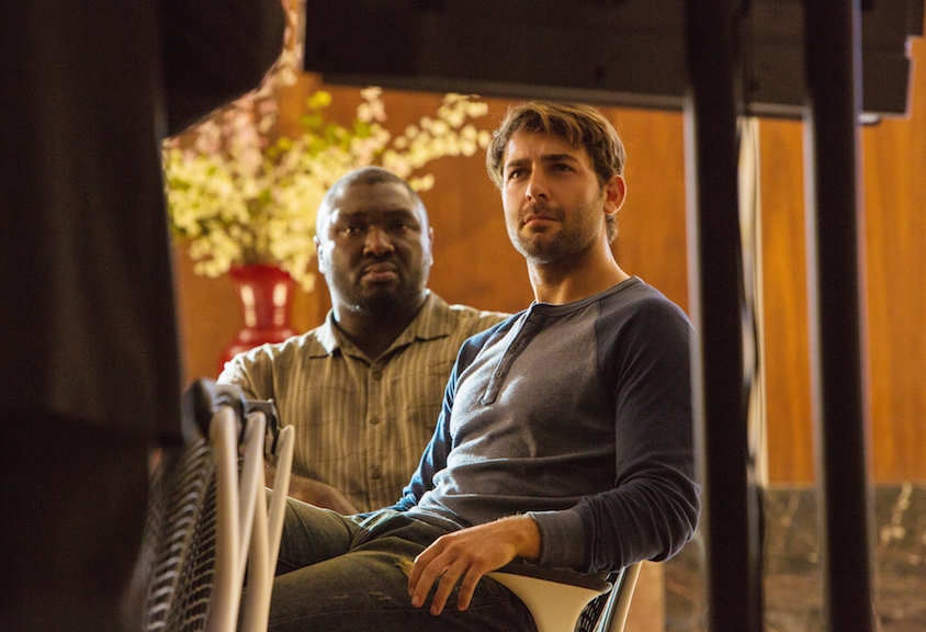 Nonso Anozie as Abraham Kenyatta and James Wolk as Jackson Oz.