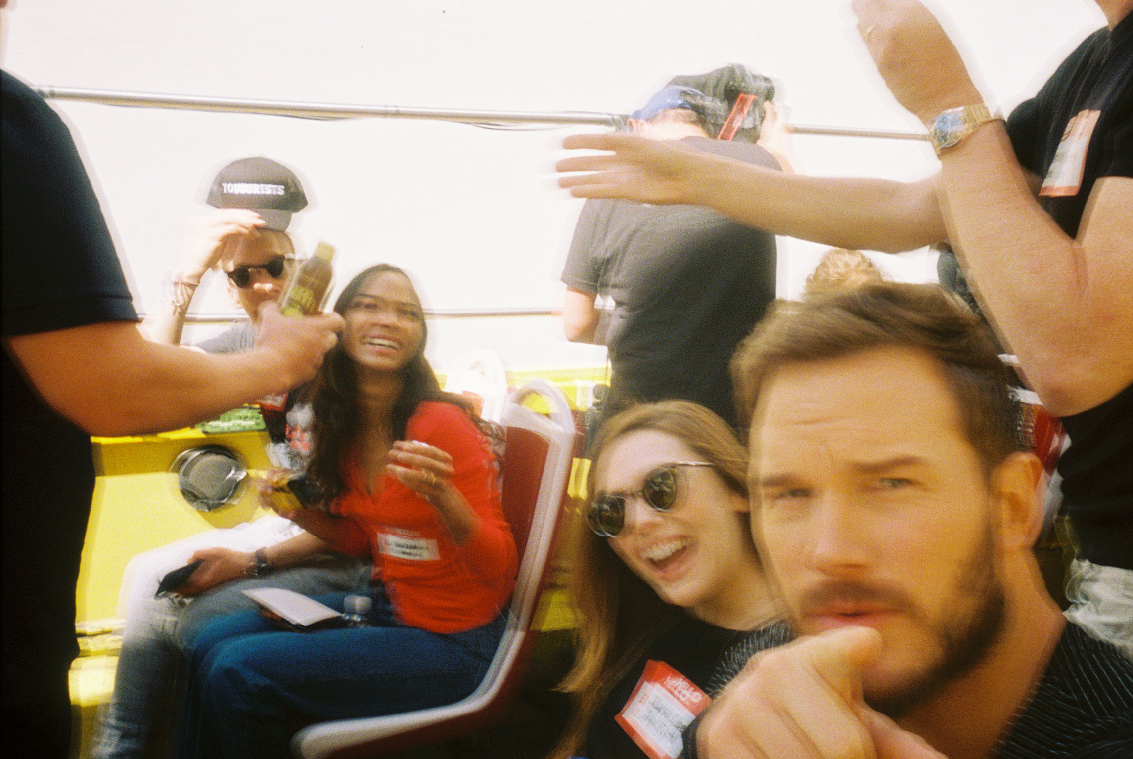 Benedict Cumberbatch, Zoe Saldana, Elizabeth Olsen and Chris Pratt