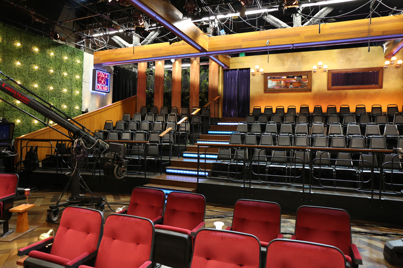 Guests enter the stage from the back of studio allowing for a ton of audience interaction.