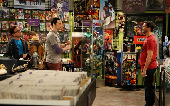Wil at the Comic Book Store