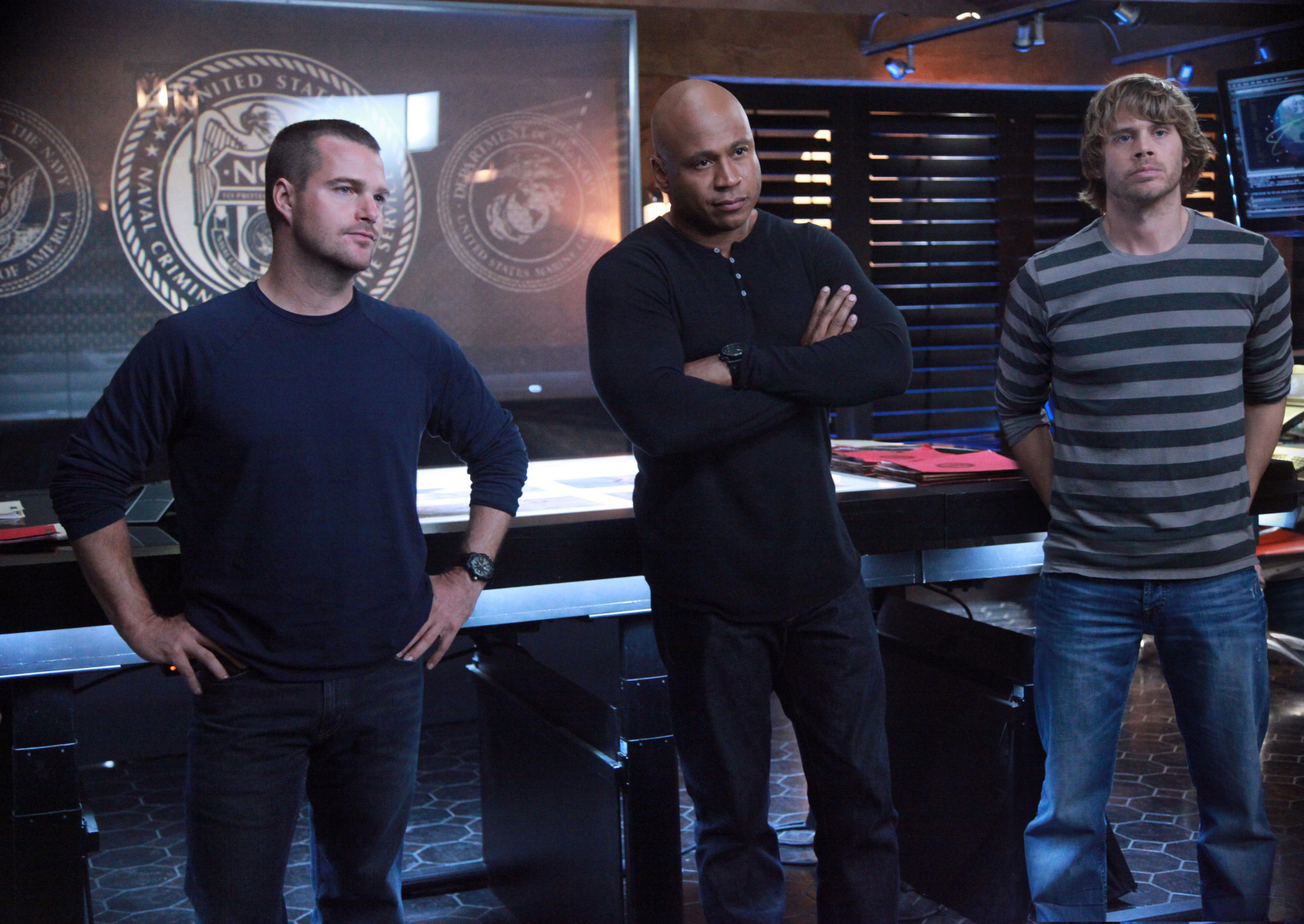 G. Callen, Sam Hanna and Marty Deeks
