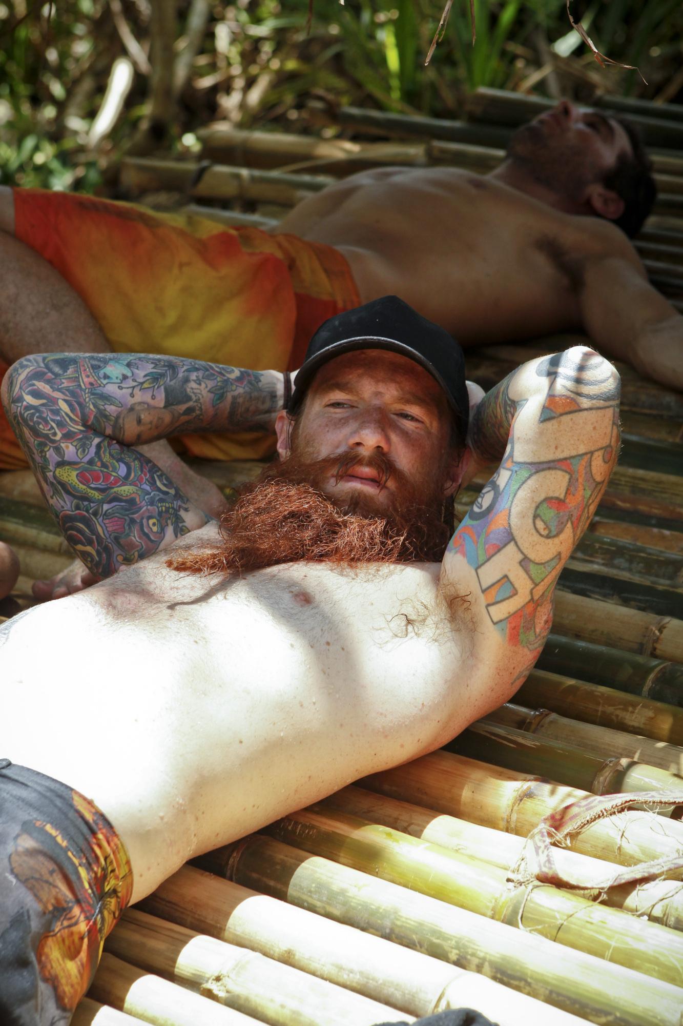 Matt relaxes in