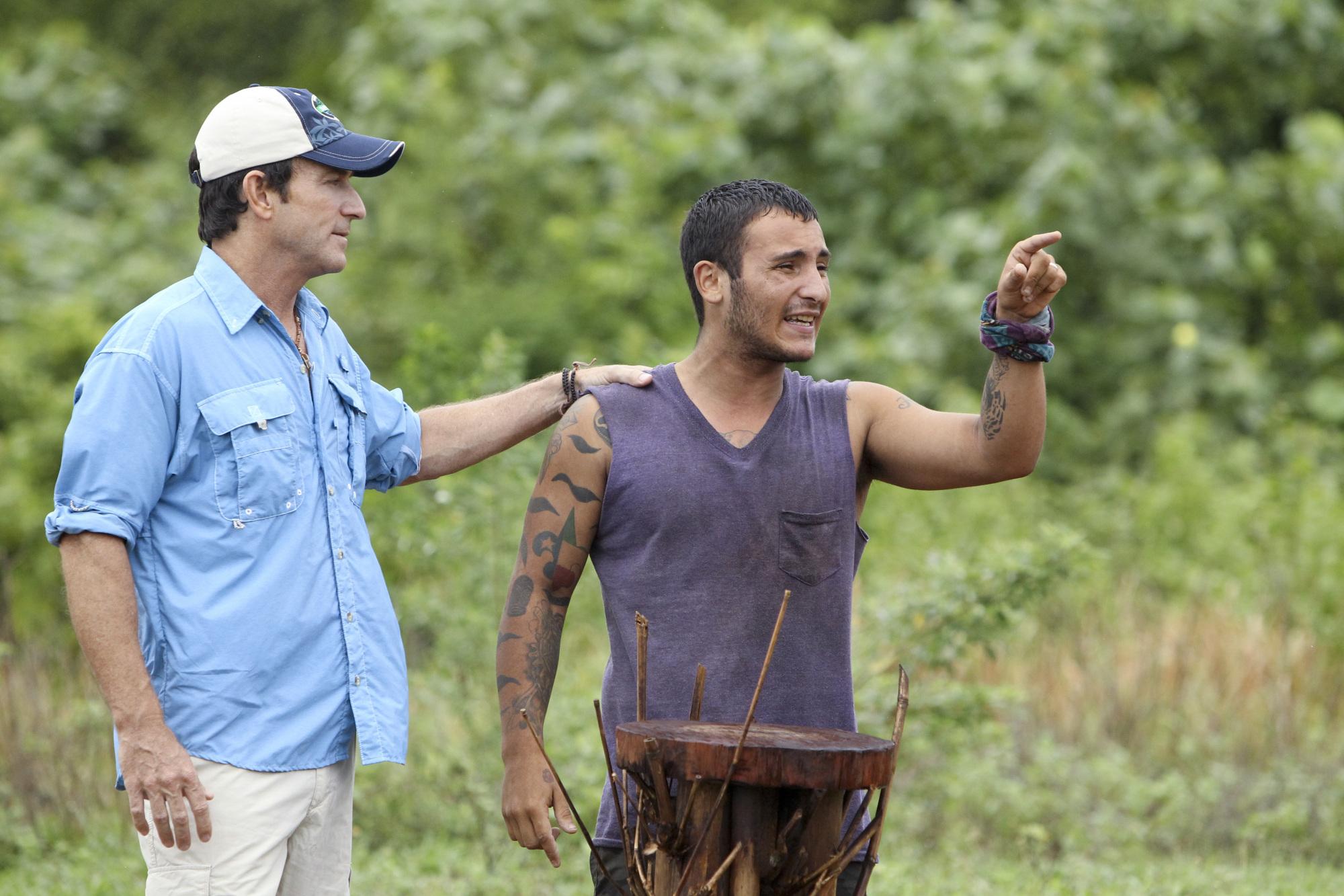 Jeff holds back Brandon in