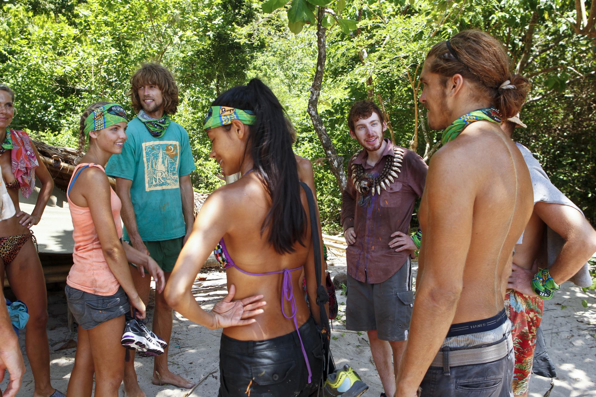 Tribe huddle in