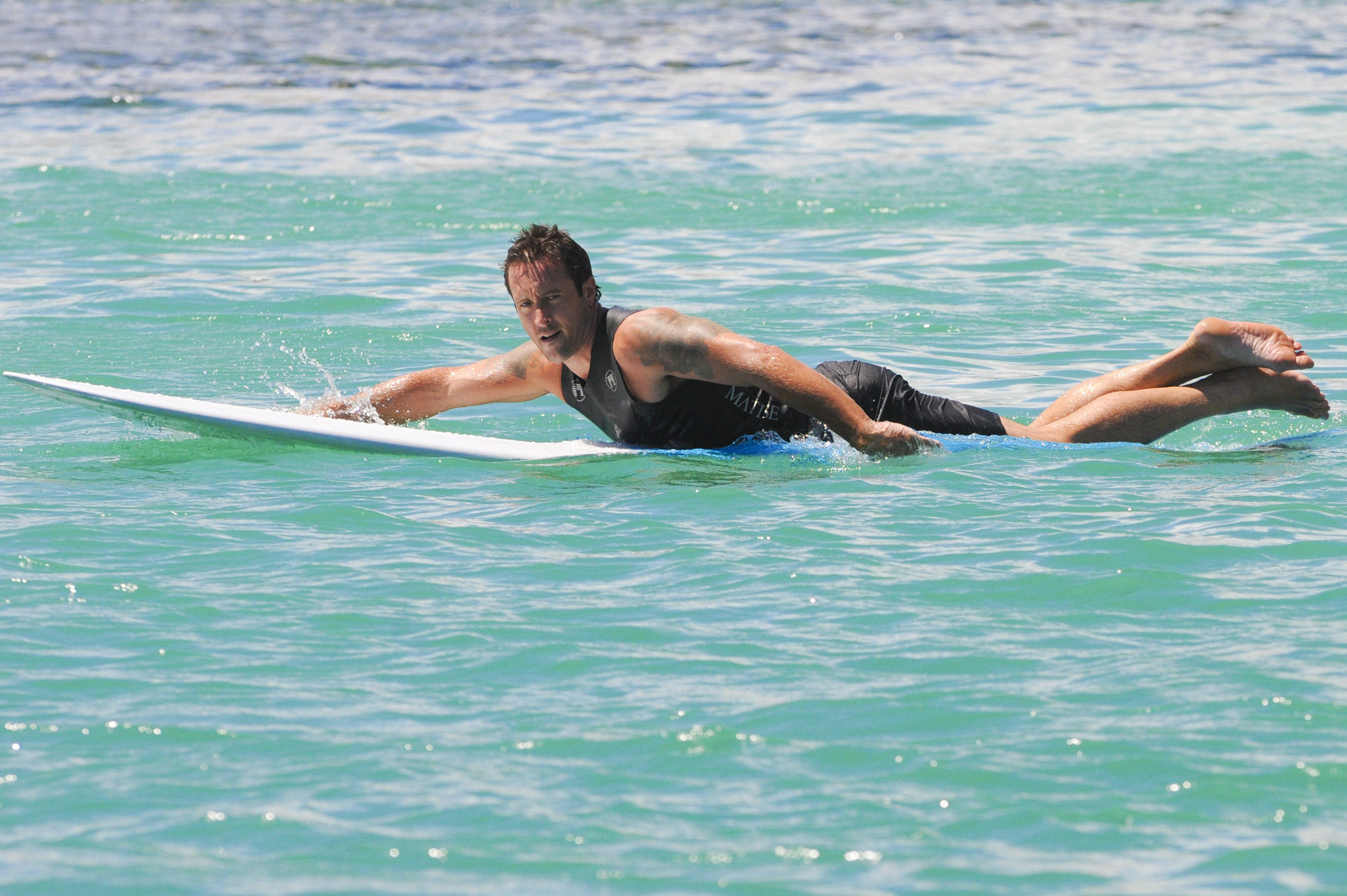 5.) He's gotten into surfing since moving to Hawaii