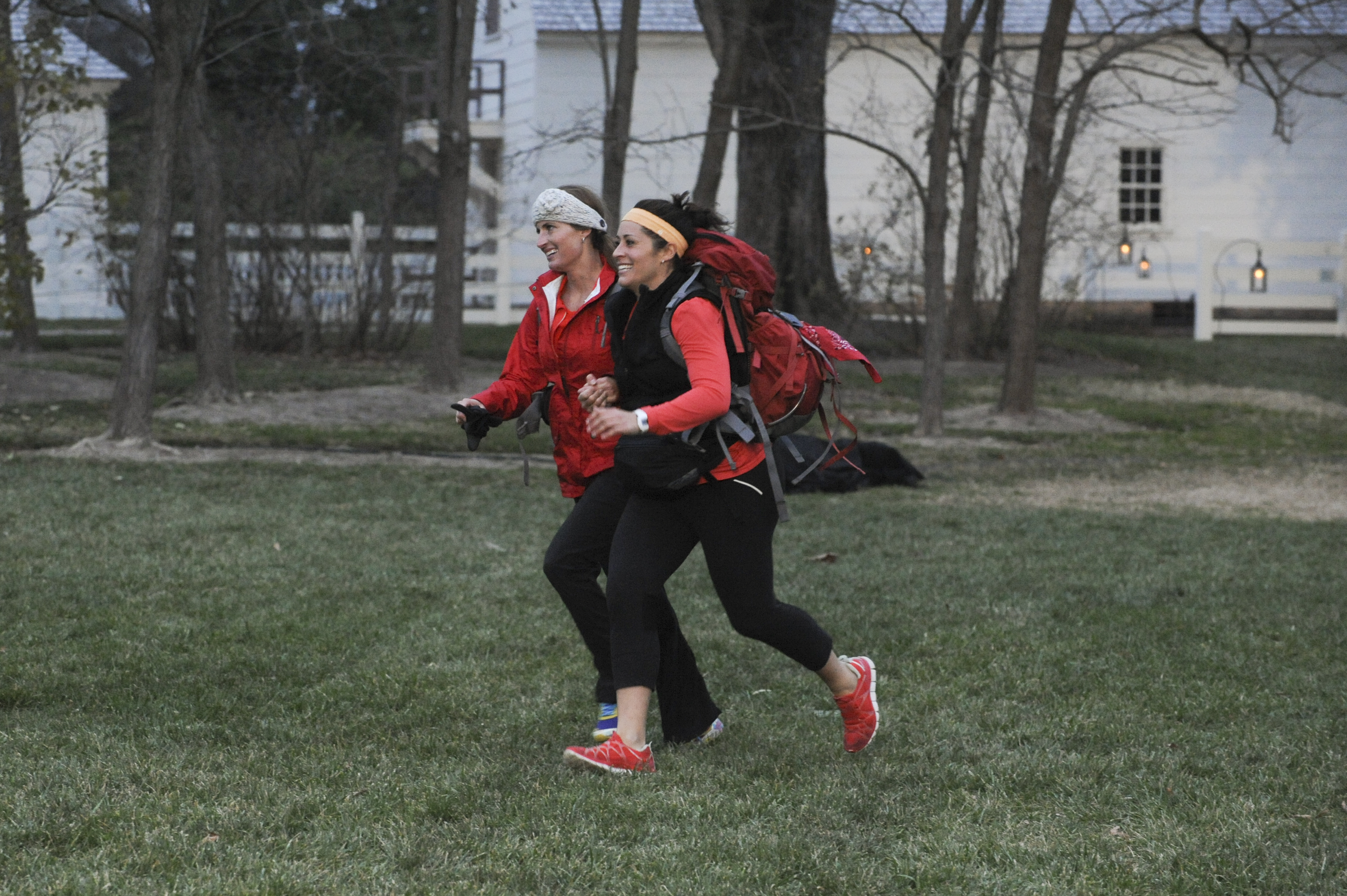 Running to the finish line in the season finale of The Amazing Race