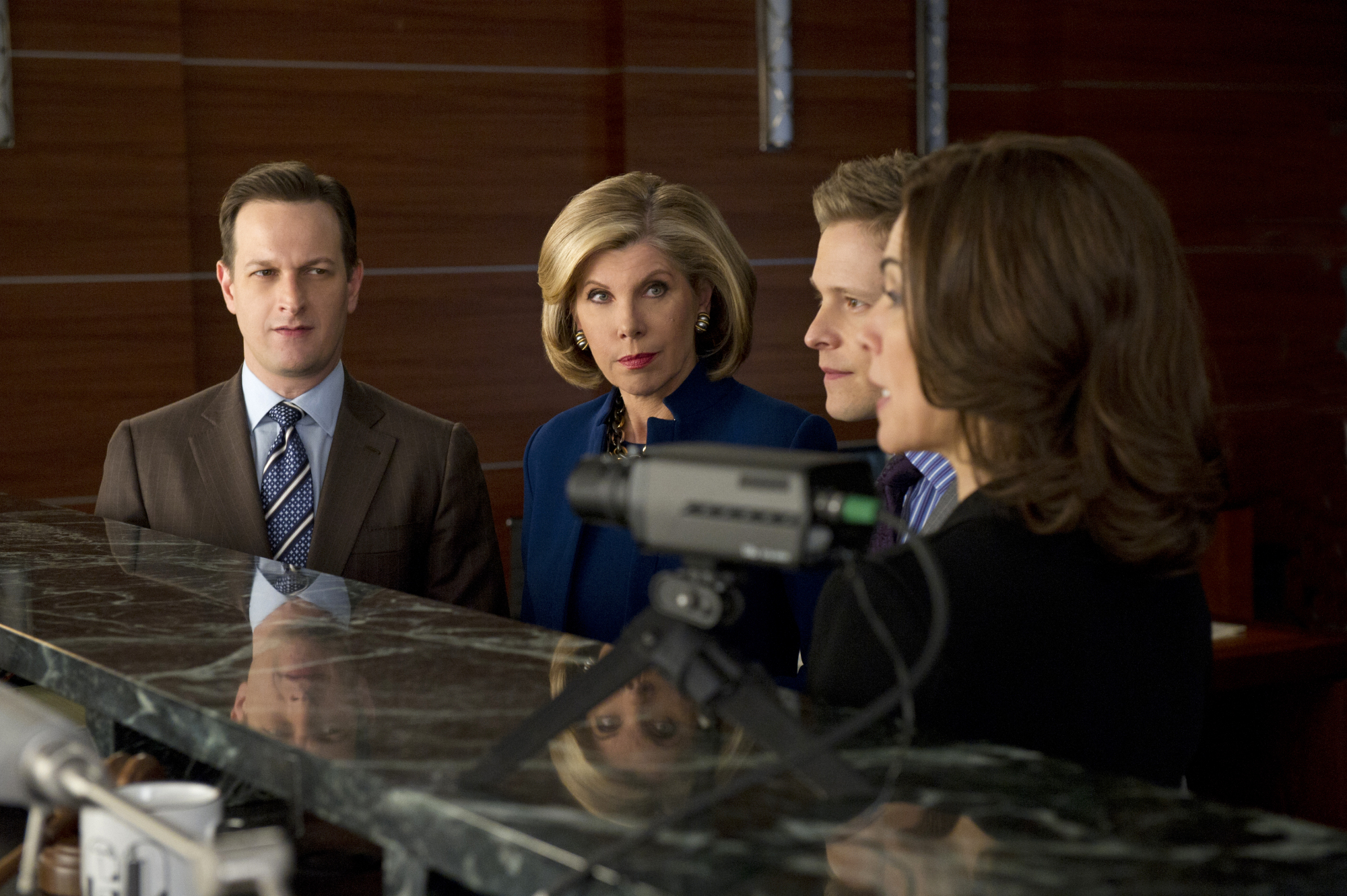 Will, Diane, Cary and Alicia at a Mock Trial