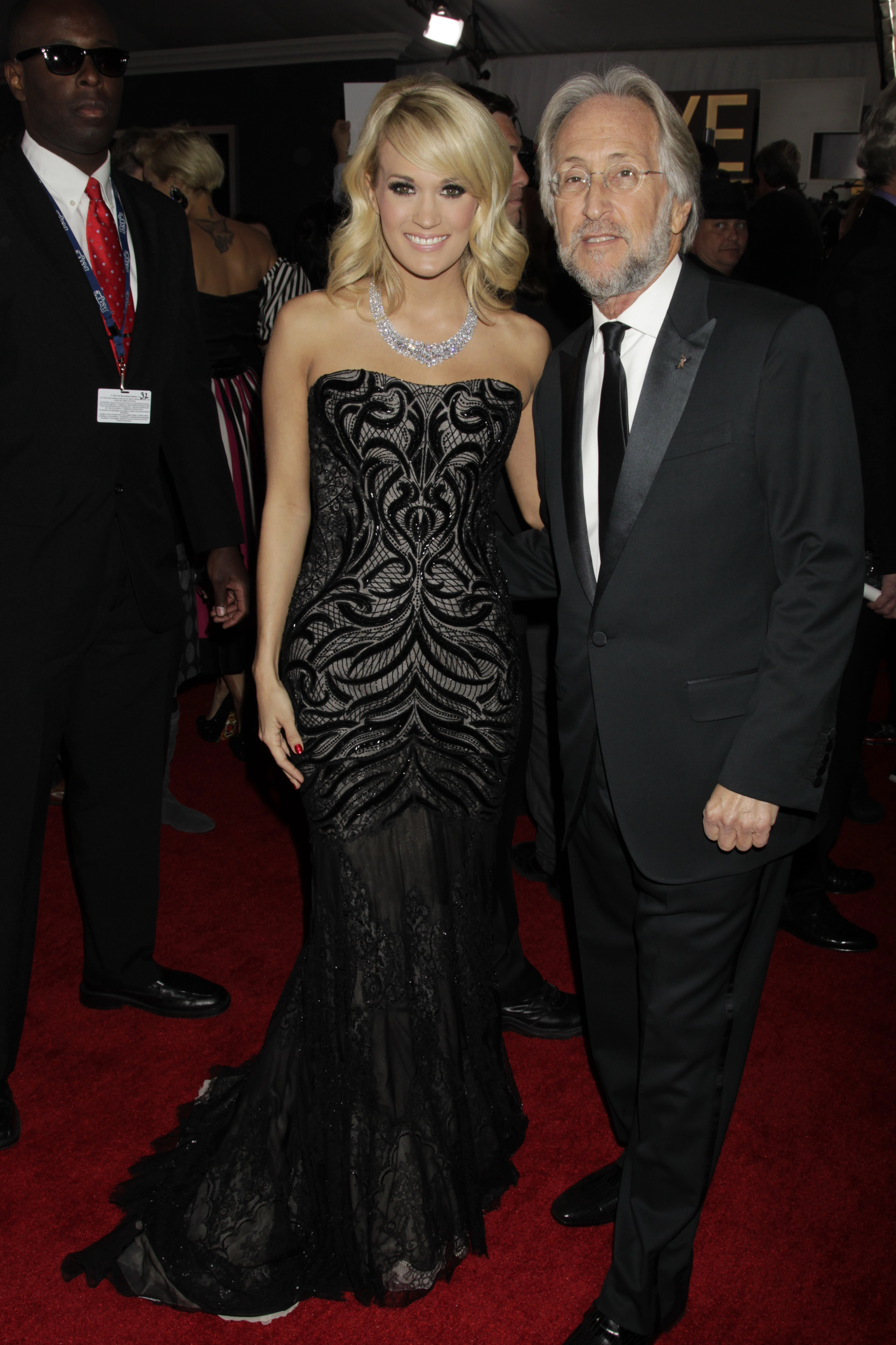 Carrie Underwood and Neil Portnow