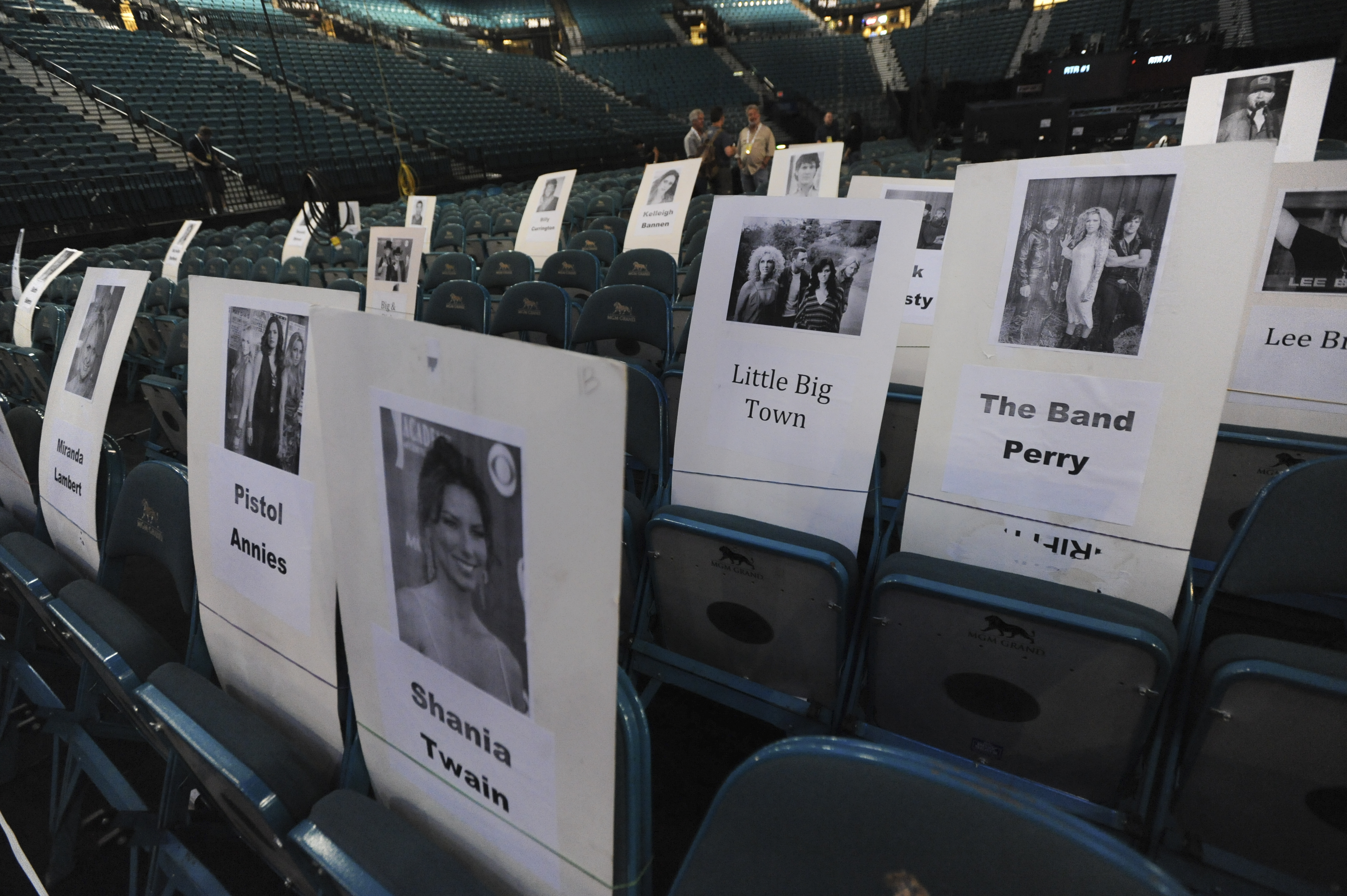 Placecards for the ACM Awards