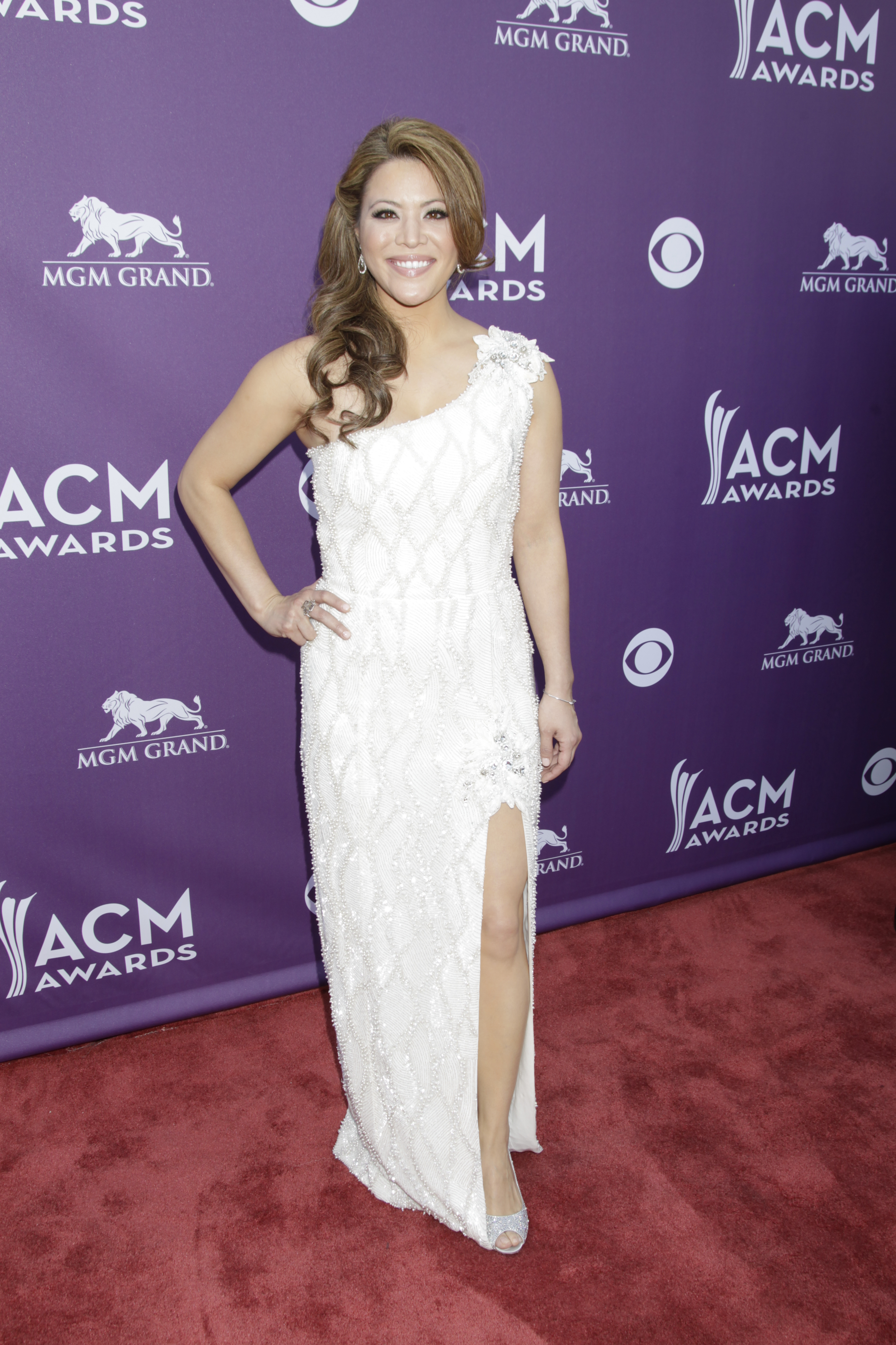 Angie Johnson on the Red Carpet - 48th ACM Awards