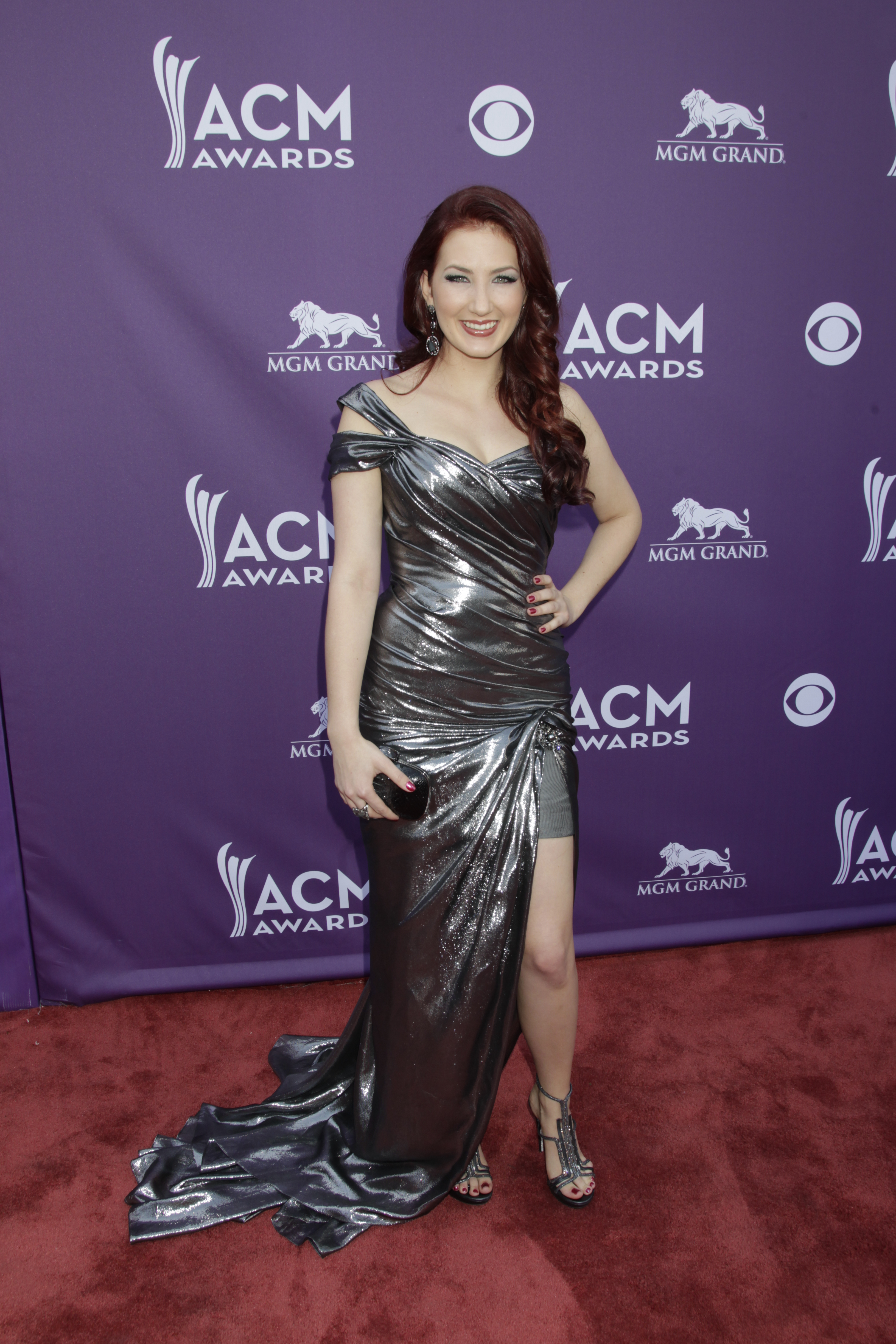 Katie Armiger on the Red Carpet - 48th ACM Awards