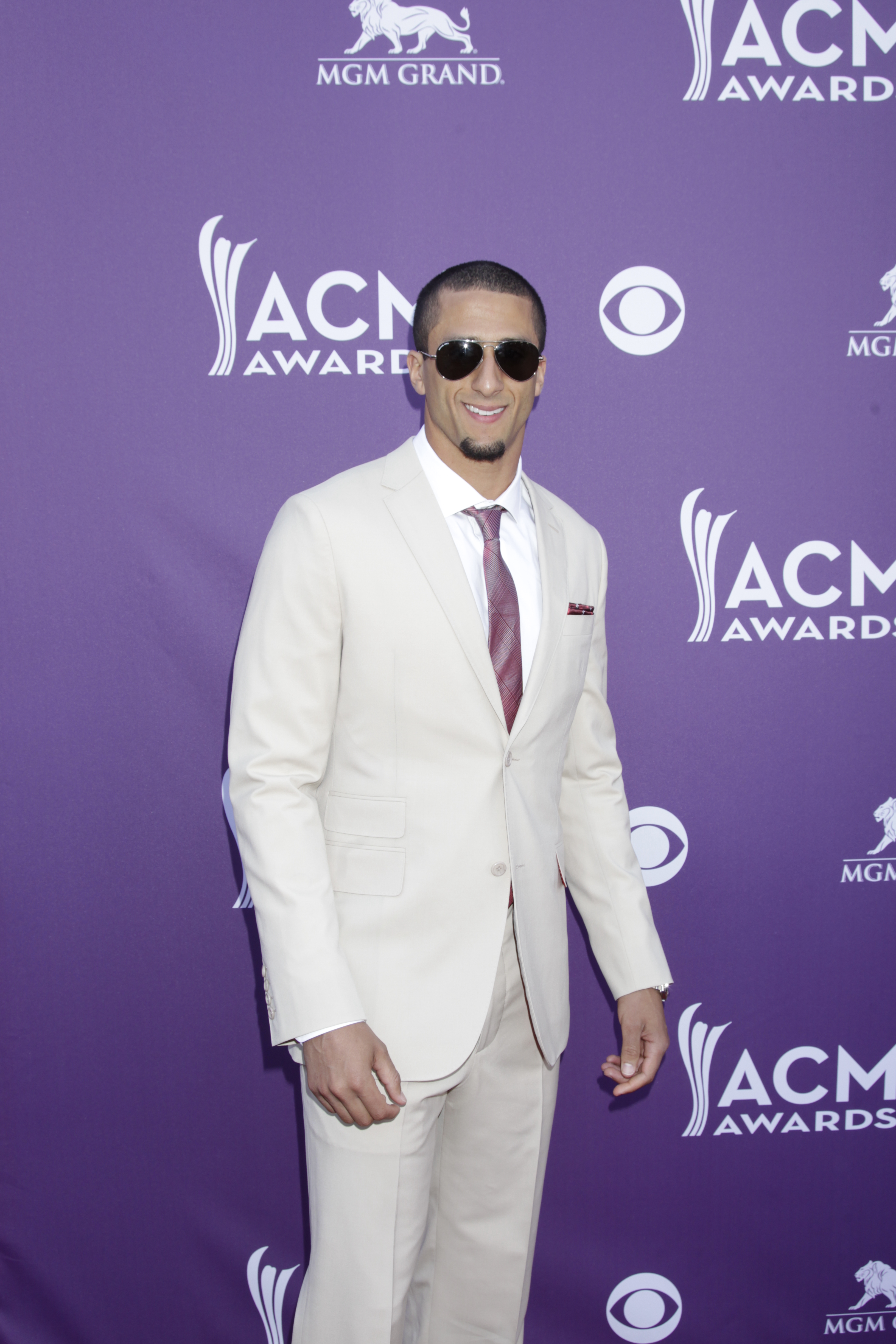 Colin Kaepernick on the Red Carpet - 48th ACM Awards