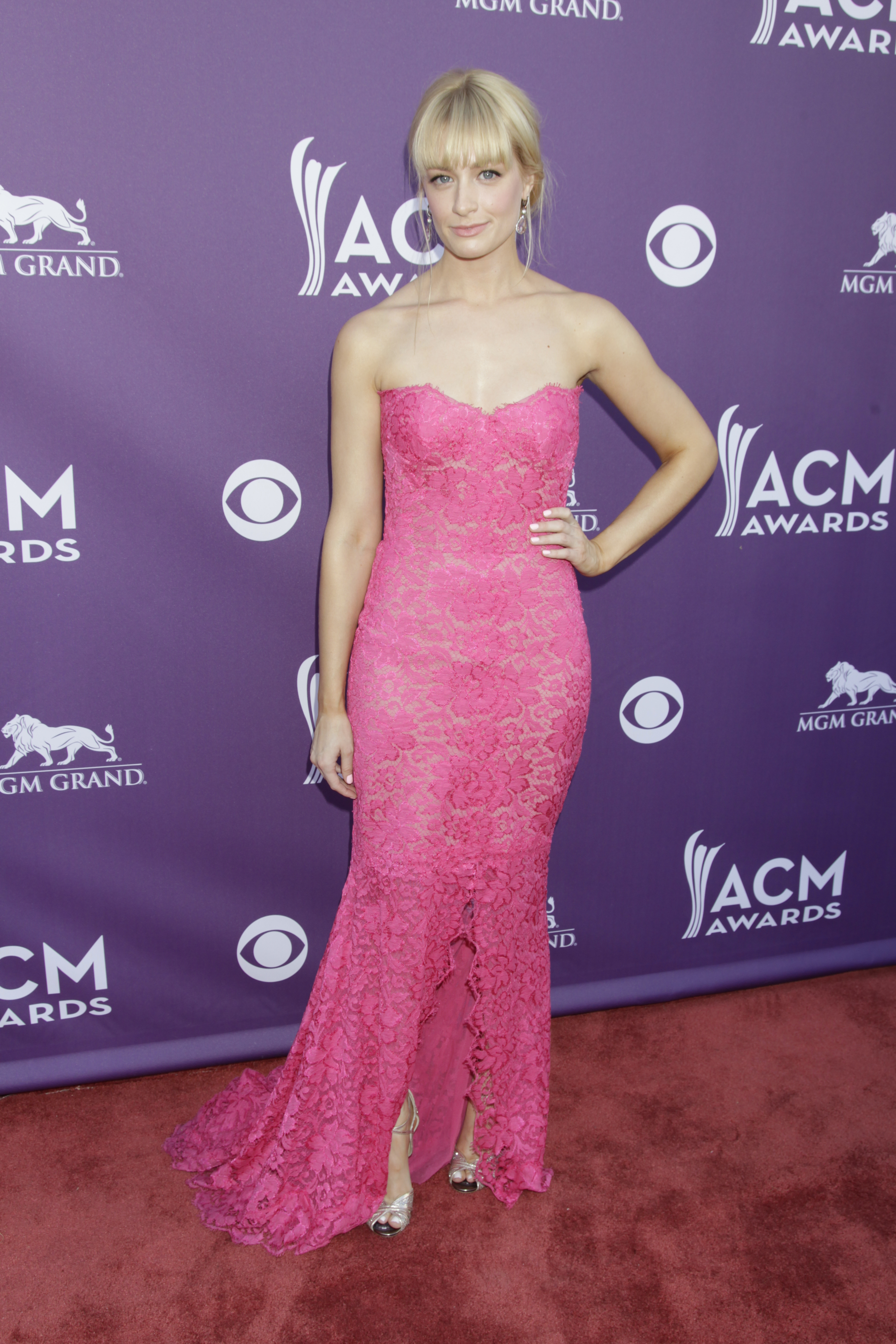 Beth Behrs on the Red Carpet - 48th ACM Awards