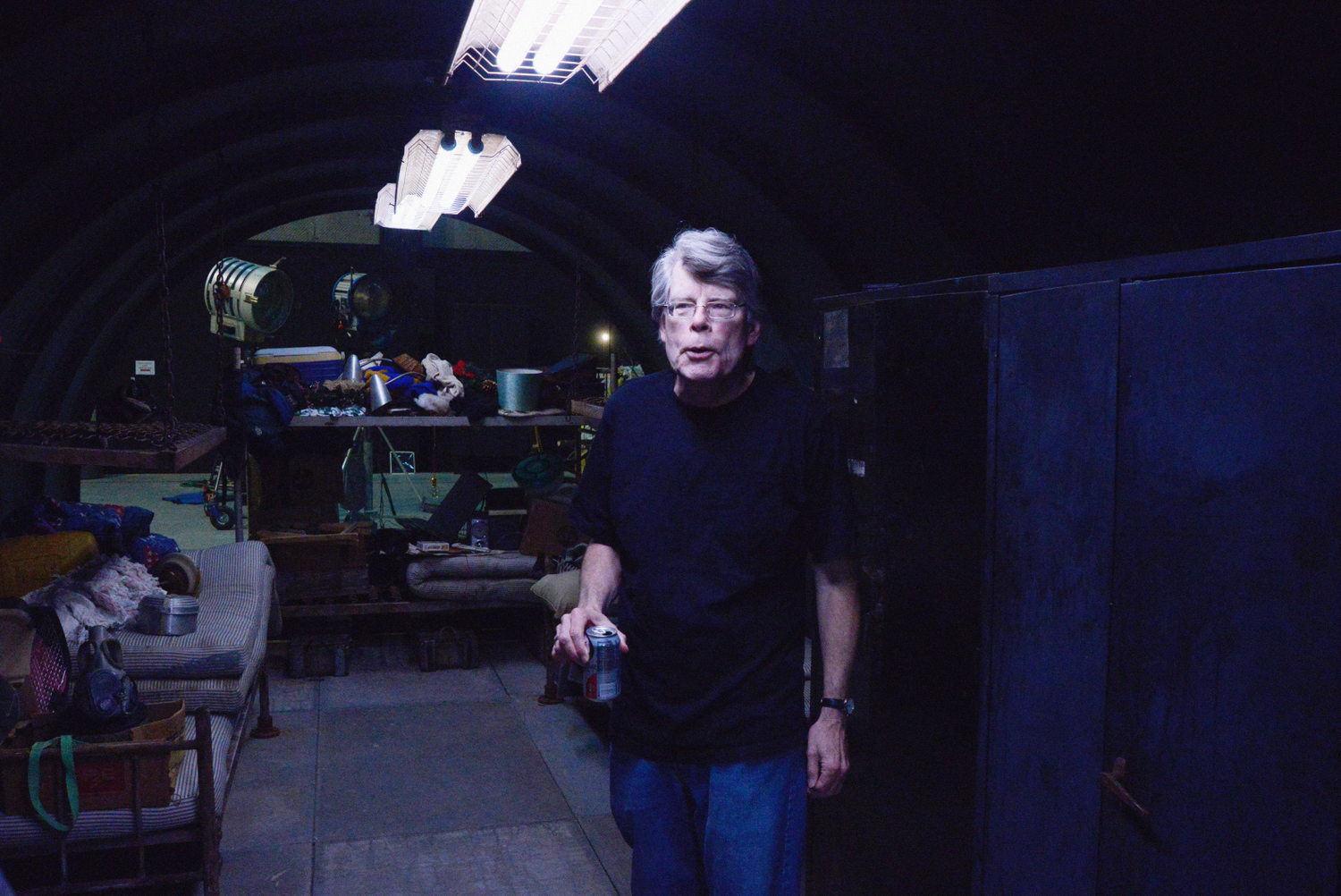 Stephen King on Set