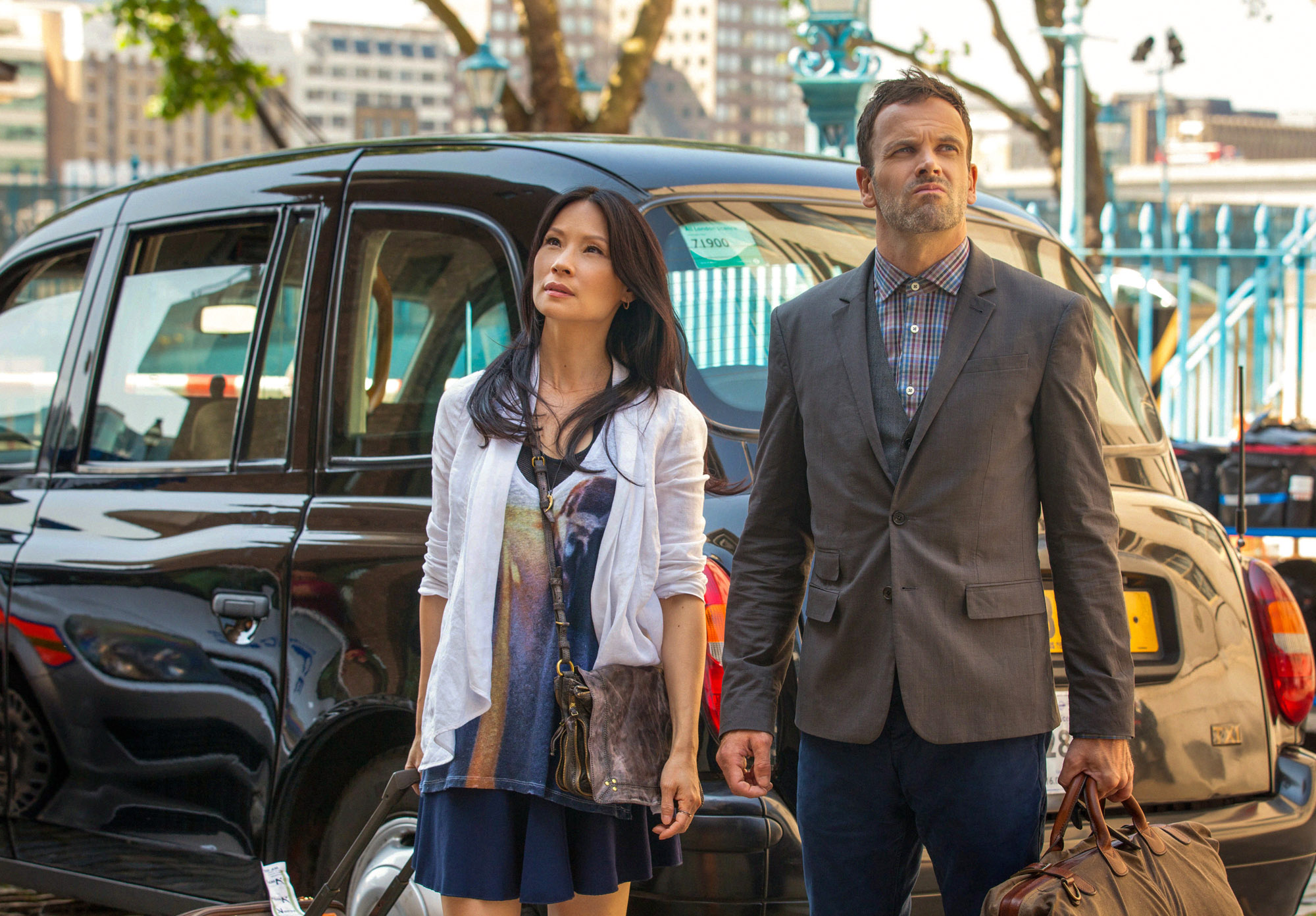 Jonny Lee Miller and Lucy Liu  begin filming season 2 in London