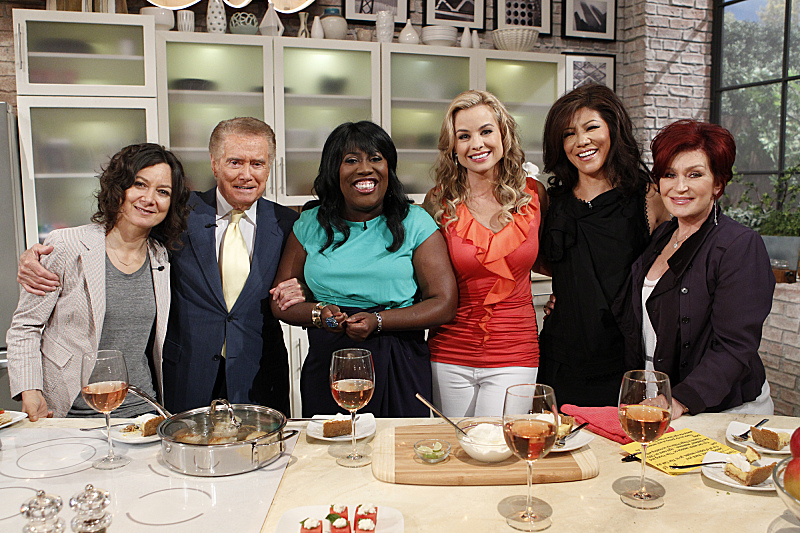 Regis Philbin, the ladies and Jessica Collins