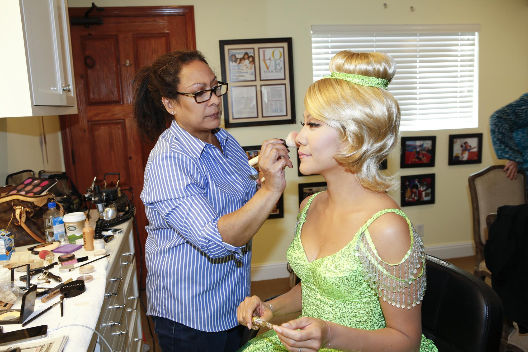 Julie Getting Ready