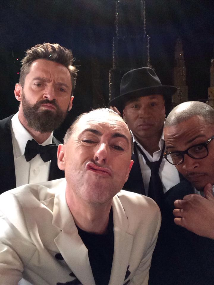 11. Hugh Jackman, Alan Cumming, LL Cool J and T.I. - Backstage at the Tony Awards