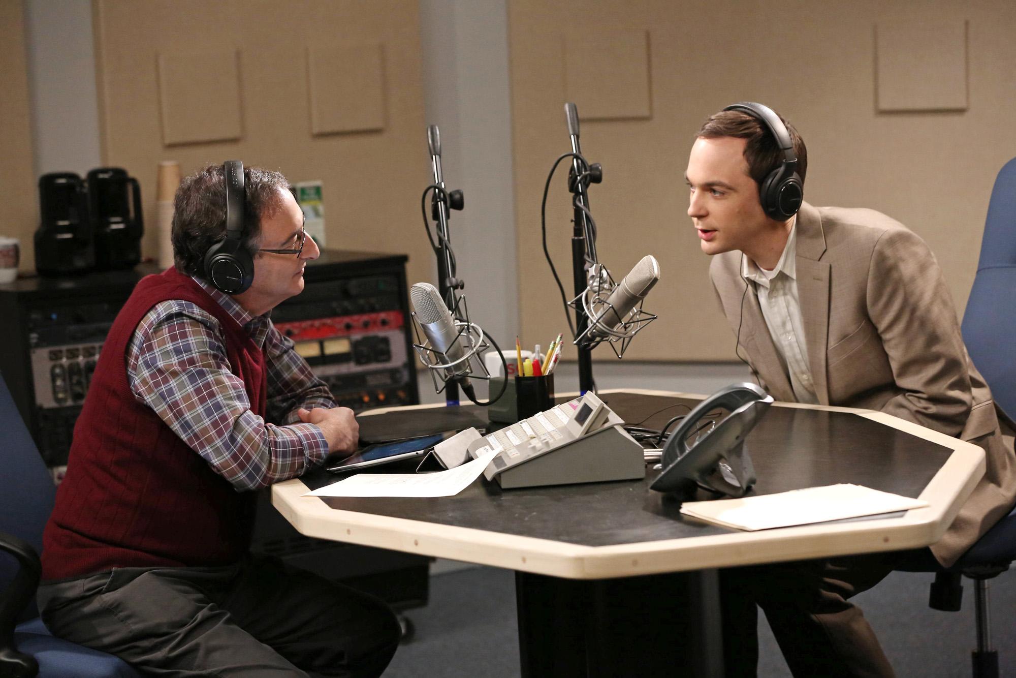 Sheldon on the radio in