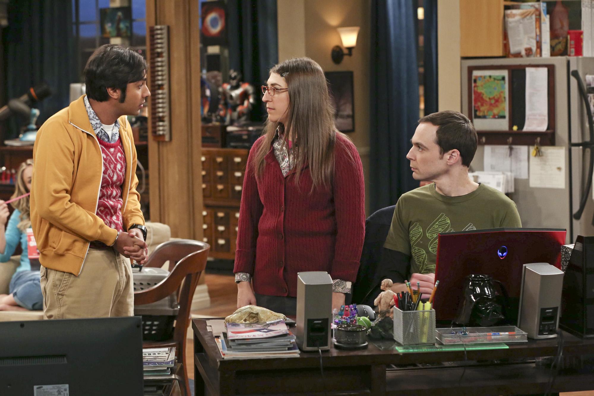 Raj, Amy & Sheldon in