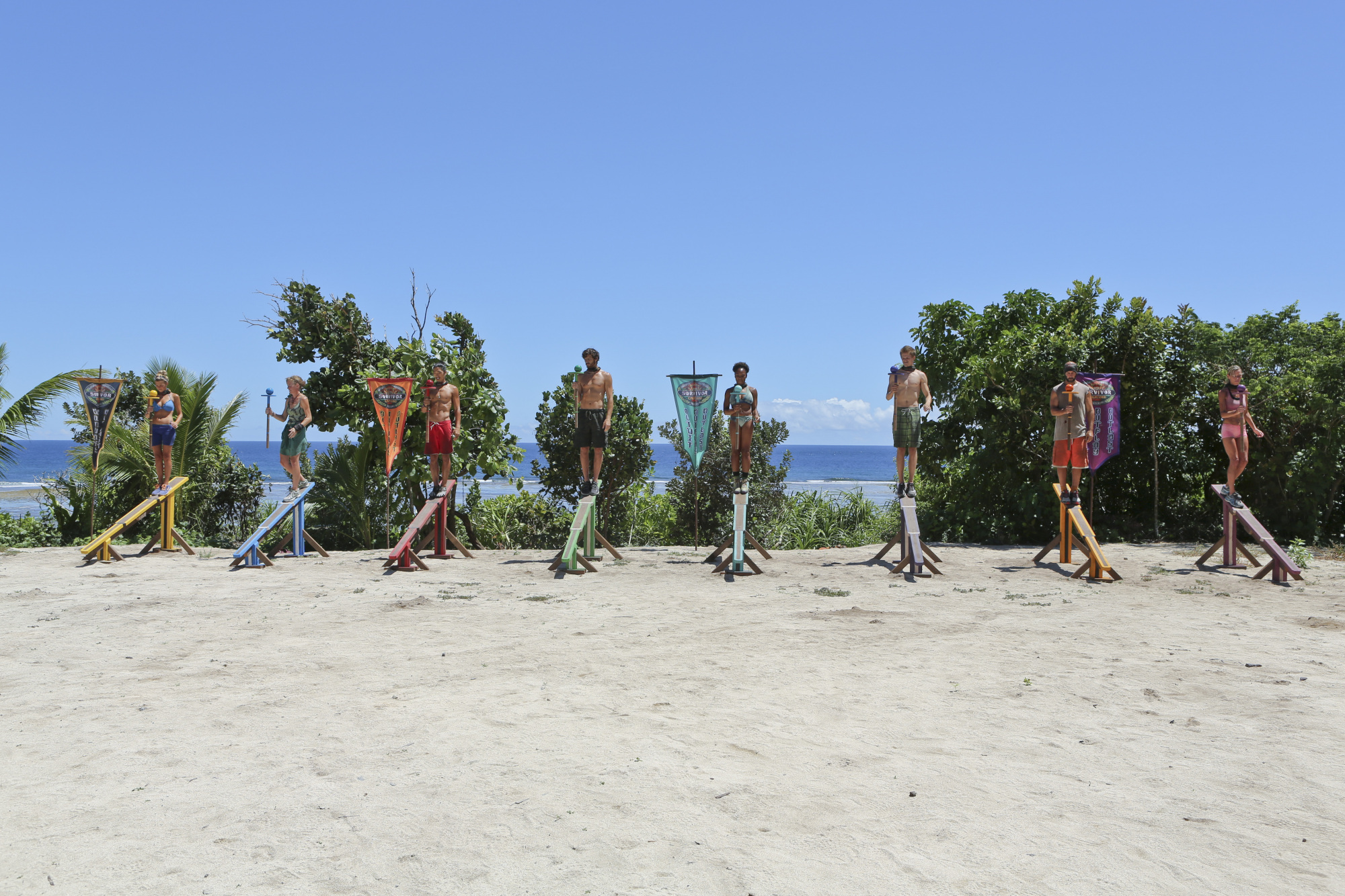 Immunity challenge competition in Season 28 Episode 9