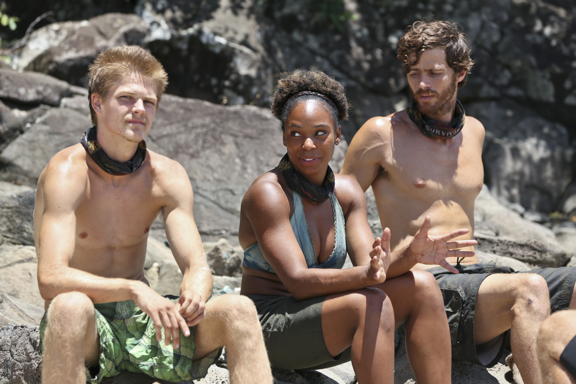 Spencer, Tasha and Jeremiah in Season 28 Episode 9