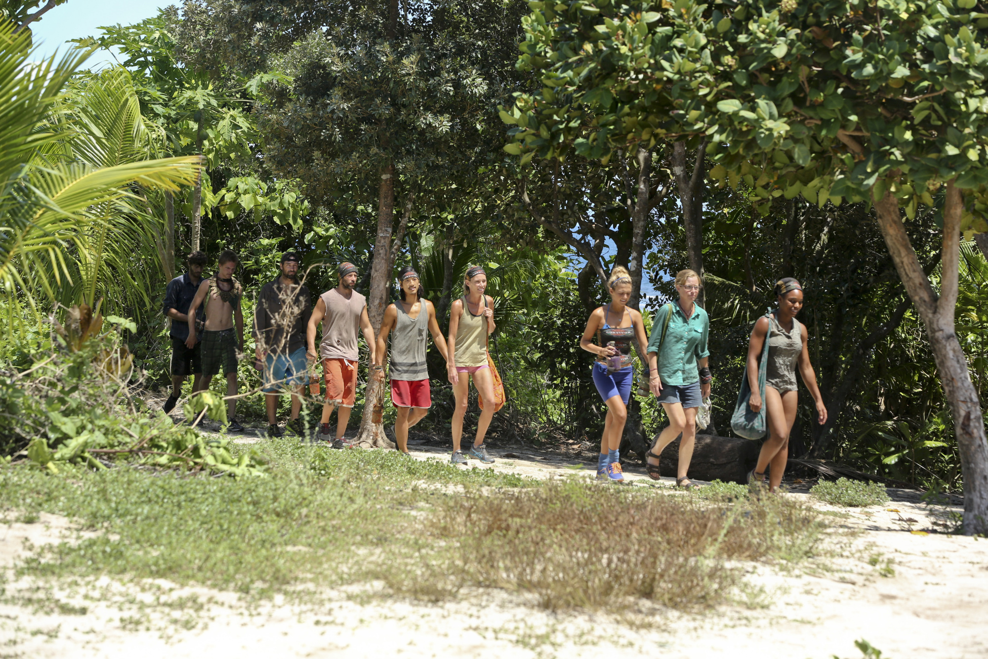 Arriving at the Immunity Challenge in Season 28 Episode 8