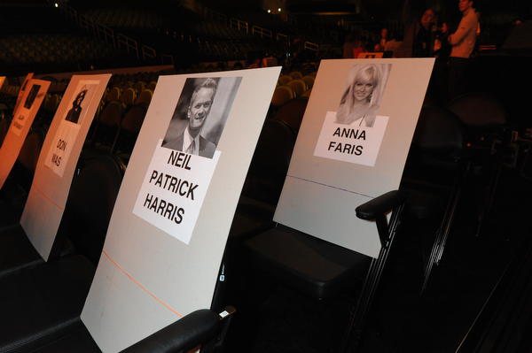 2014 GRAMMY Rehearsal Photos - Seat cards