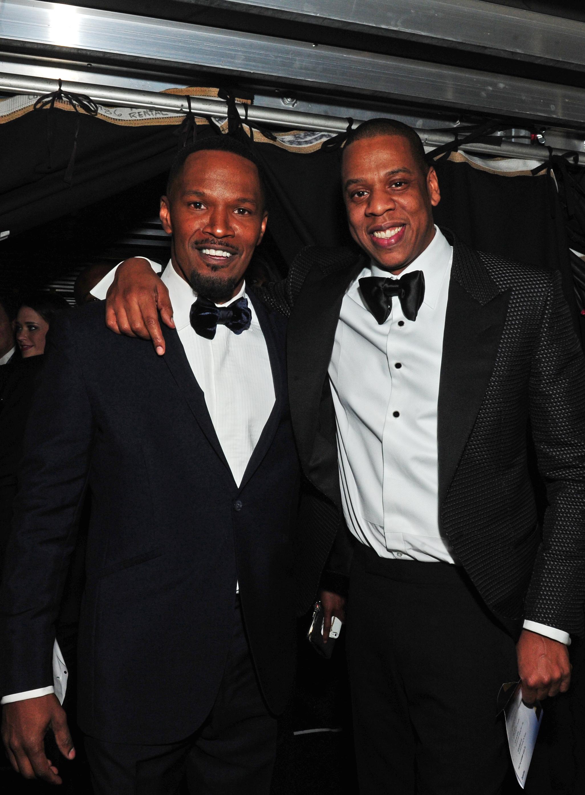 Jaime Foxx and Jay Z - GRAMMYs 2014 - CBS.com