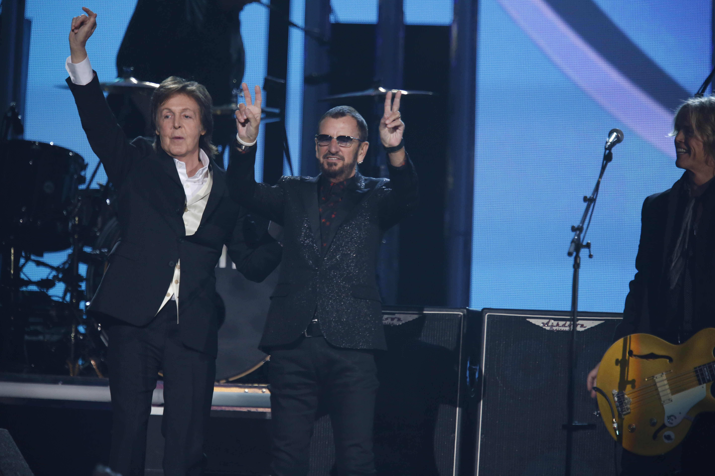 Paul McCartney and Ringo Starr - GRAMMYs 2014 - CBS.com