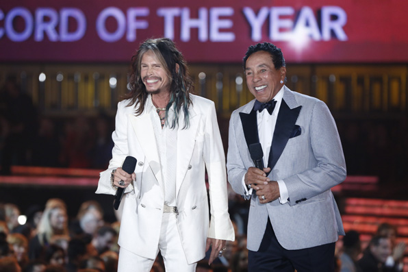 Steven Tyler and Smokey Robinson