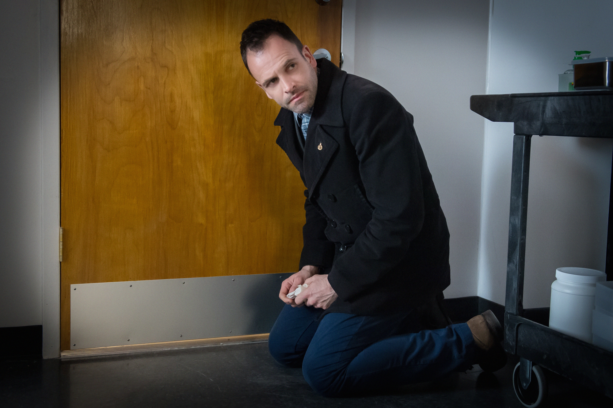 Holmes investigates in