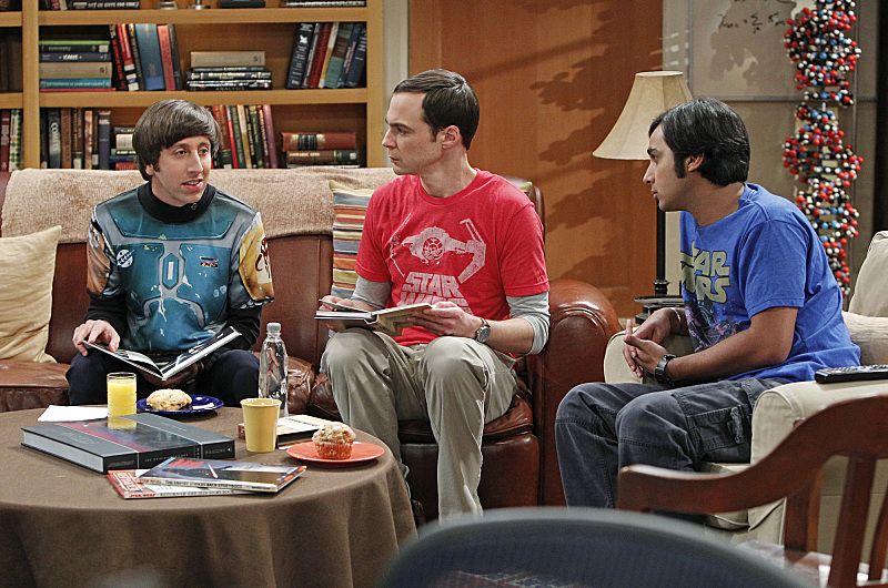 Howard, Sheldon and Raj in