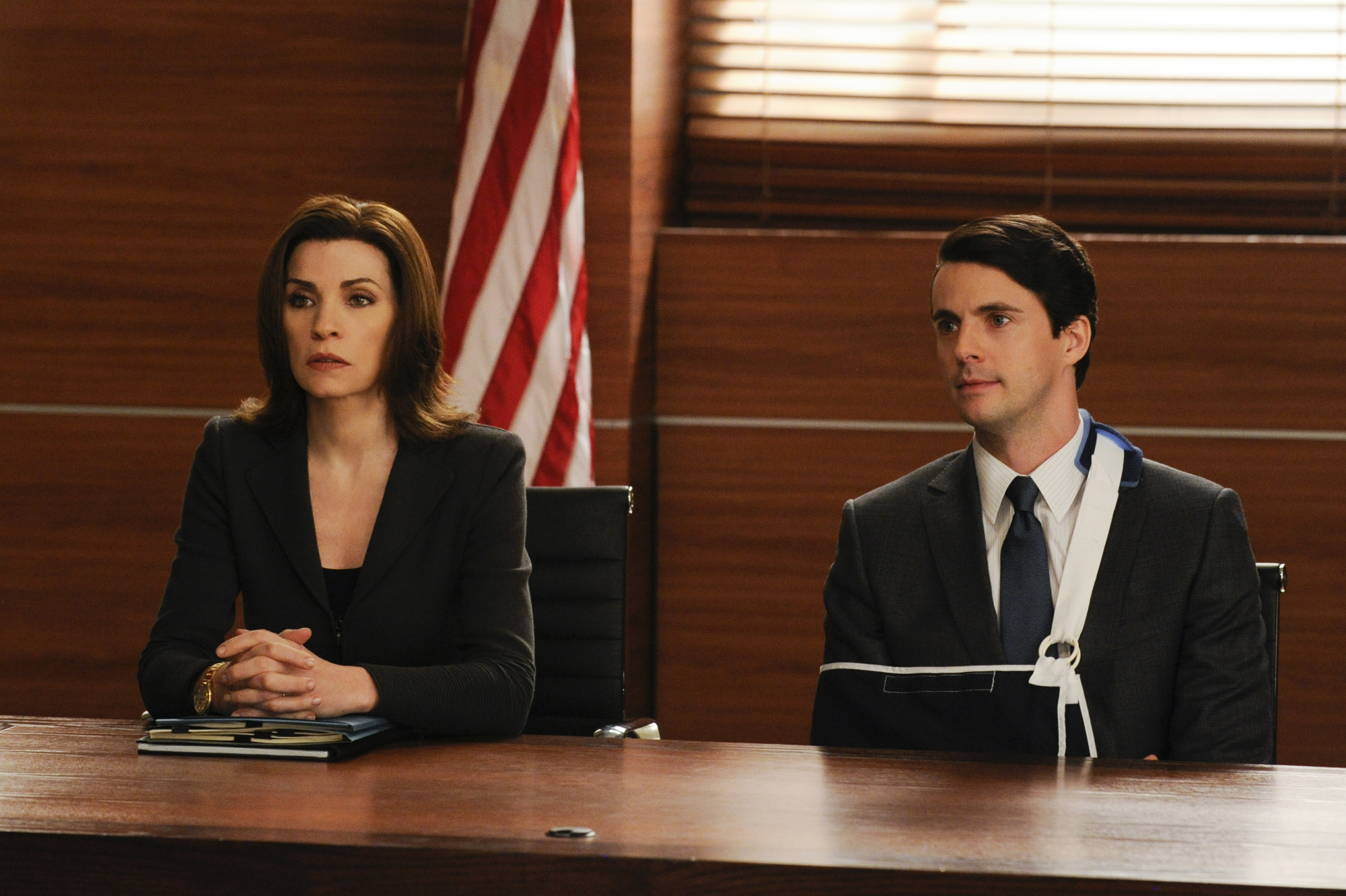 Finn hires Alicia as his lawyer in