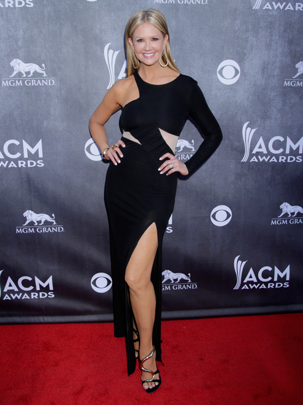 Nancy O'Dell on the Red Carpet - 49th ACM Awards
