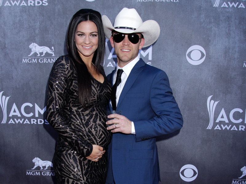 Justin Moore and Wife, Kate on the Red Carpet - 49th ACM Awards