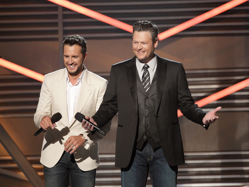 Co-Host Luke Bryan and Blake Shelton